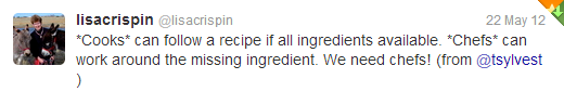 lisa_crispin_cooks_vs_chefs_tweet