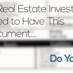 All Real Estate Investors NEED to Have This Document… Do You?